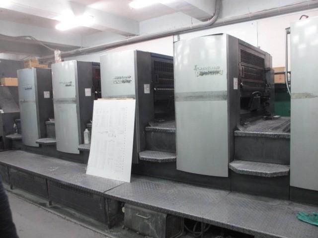 5基の印刷機